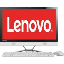 Sistem All-In-One Lenovo 23'' IdeaCentre 300, FHD IPS Touch, Intel Core i3-6100U 2.3GHz Skylake, 4GB, 1TB, GeForce 920A 2GB, FreeDos, White