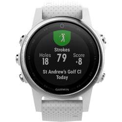 Smartwatch Garmin Fenix 5s, Heart Rate, GPS, Carrara White