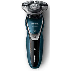 Philips Aparat de ras S5672/41, lame Multiprecision, Wet & Dry, LED, Turbo+, acumulator, 3 capete, rotire in 5 directii, trimmer, husa, negru