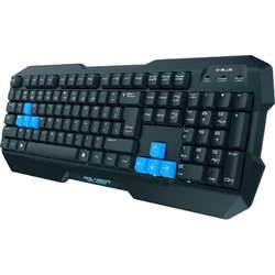 E-BLUE Tastatura Gaming Polygon, 8 taste de schimb, iluminare LED