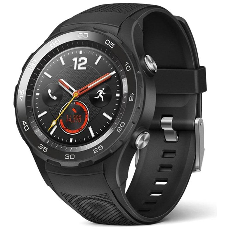Smartwatch Huawei Watch 2, LTE, Carbon Black Sport Strap