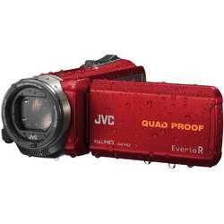 JVC Video Camera Quad-Proof R GZ-R435REU, Full HD, Red