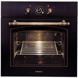 Hansa Cuptor incorporabil rustic BOES68120090, Electric, Grill, Rotisor, Clasa A, Antracit