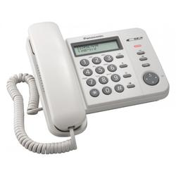 Telefon Analogic cu Fir Panasonic KX-TS560FXW, Display, LCD, Caller ID, Alb