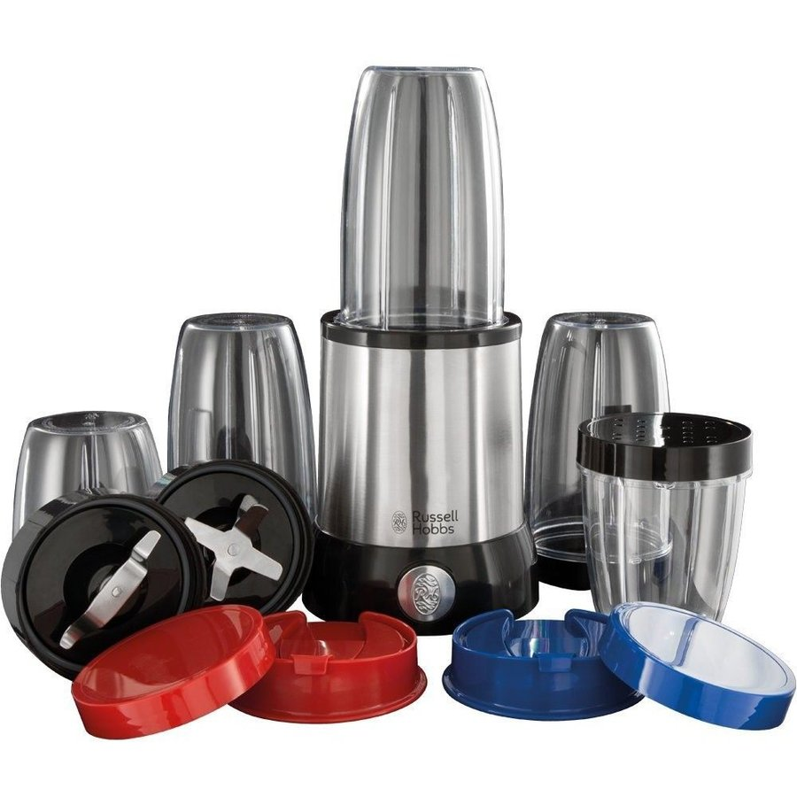 Blender Nutriboost 23180-56, 700 W, Set De 15 Piese, 3 Recipiente 700 Ml, 2 Recipiente 350 Ml, 2 Lame, Inox/negru