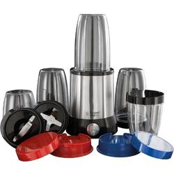 Russell Hobbs Blender NutriBoost 23180-56, 700 W, Set de 15 piese, 3 recipiente 700 ml, 2 recipiente 350 ml, 2 lame, Inox/Negru