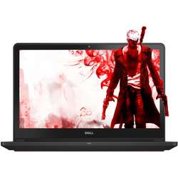 Laptop Dell Gaming 15.6'' Inspiron 7559 (seria 7000), UHD Touch, Intel Core i7-6700HQ, 16GB, 1TB + 128GB SSD, GeForce GTX 960M 4GB, Linux, Black