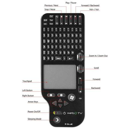 Tastatura Smart Remote E-Blue web@TV