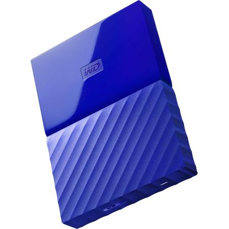 "Western Digital HDD extern 1TB, My Passport, 2.5"" USB 3.0, albastru"