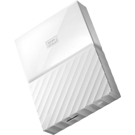 "Western Digital HDD extern 3TB, My Passport, 2.5"" USB 3.0, alb"