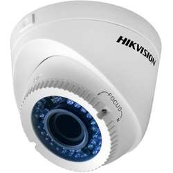 "Hikvision Camera video analog Dome, 720p, 1/3""Progressive Scan CMOS, 40m IR"