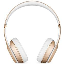 Casti audio cu banda Beats Solo 3 by Dr. Dre, Wireless, Gold