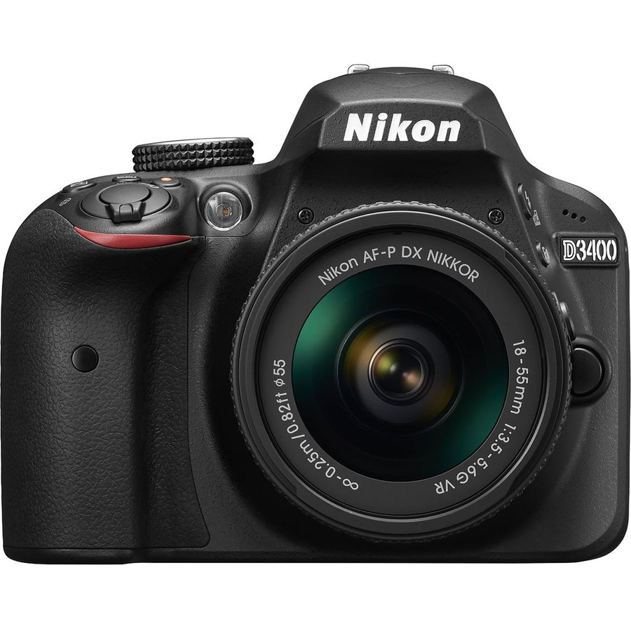 Aparat Foto Dslr D3400, 24,2mp Black + Obiectiv Af-p 18-55mm Vr