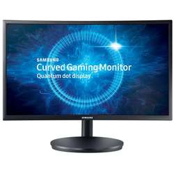 Monitor LED Samsung Gaming C24FG70FQU Quantum Dot Curbat 23.5 inch 1 ms Black FreeSync 144Hz