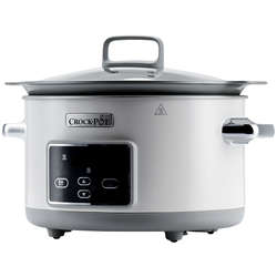 Crock-Pot Slow cooker DuraCeramic Saute, 5.0 l, timer, alb