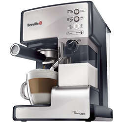 Breville Espressor manual Prima Latte VCF045X-01, 15 Bar, 1.5 l, Recipient detasabil lapte 0.3 l, Argintiu