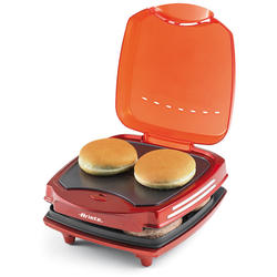 Ariete Aparat hamburger Party Time 185, 1200 W, placi non-stick, rosu
