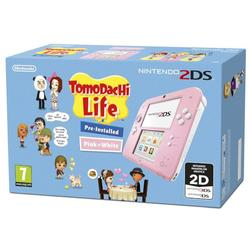 NINTENDO 2DS CONSOLE PINK & WHITE & TOMODACHI LIFE - GDG