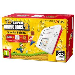 NINTENDO 2DS CONSOLE WHITE & RED & NEW SUPER MARIO BROS 2 - GDG