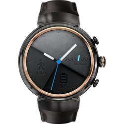 "Smartwatch Asus ZenWatch 3 WI503Q, Procesor Quad-Core, AMOLED capacitive touchscreen 1.39"", 512MB RAM, 4GB Flash, Bluetooth, Curea Piele, Rezistent la apa si praf (Maro"