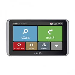 "Sistem de navigatie + camera video integrata GPS Mio MiVue Drive 65 LM TMC, diagonala 6"", card 16 GB inclus, bluetooth, Harta Full Europe + Update gratuit al hartilor pe viata"