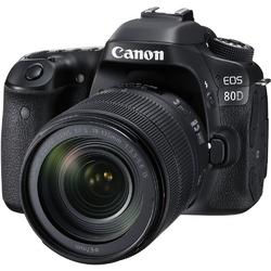 Canon Aparat foto DSLR EOS 80D BK, 24.2 MP, WiFi + Obiectiv EF-S 18-135mm IS