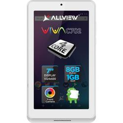"Allview Tableta Viva C702W, 7"", Quad Core 1.3GHz, 1GB RAM, 8GB, White"