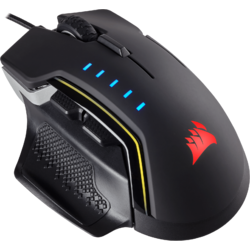 CORSAIR Mouse Gaming GLAIVE RGB LED, 16000 DPI, Aluminium