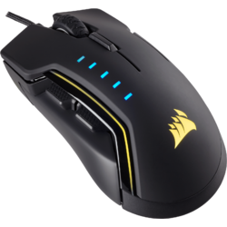 CORSAIR Mouse Gaming GLAIVE RGB LED, 16000 DPI, Black