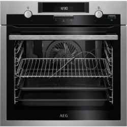 AEG Cuptor incorporabil electric BPE552320M, Plus Steam, pirolitic, 10 functii, 71 l, Clasa A+, inox antiamprenta