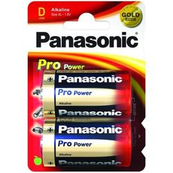 Panasonic Baterii Pro Power Alkaline, LR20, D, 2 Pcs, Blister