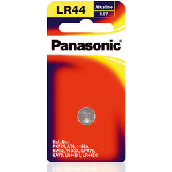 Panasonic Baterie Cell Power Alkaline LR44, A76, 1 Pc, Blister