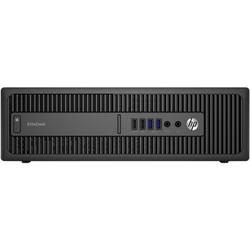 Sistem desktop HP ProDesk 600 G2 SFF Intel Core i3-6100 3.70GHz, Skylake, 4GB, 500GB, DVD-RW, Intel HD Graphics 530, Windows 7 Pro + Windows 10 Pro, Black + Mousepad