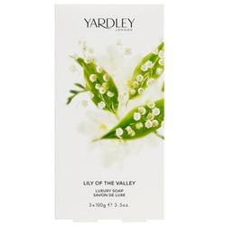 Yardley Set sapunuri 3 x 100g din gama Lily of the Valley