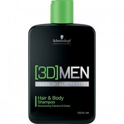 Schwarzkopf Professional Sampon [3D]MEN Hair & Body 250ml