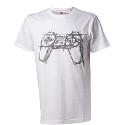 Bioworld Europe PLAYSTATION WHITE CONTROLLER TSHIRT S
