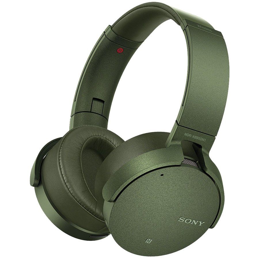 Casti audio MDRXB950N1G, EXTRA BASS, Noise cancelling, Wireless, Bluetooth, NFC, Verde