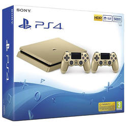 Sony Consola Playstation 4 SLIM, 500 GB Editie Limitata Gold + controller DualShock 4 V2 Gold