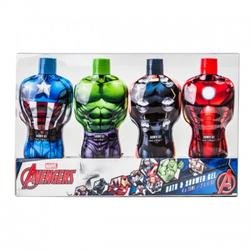 MARVEL Set cadou Avengers Hulk gel de dus 75ml + Thor gel de dus 75ml + Iron Man gel de dus 75ml + Captain America gel de dus 75ml