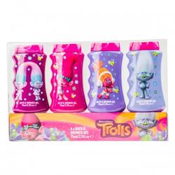 DreamWorks Gel de dus Trolls 4 X 75ml