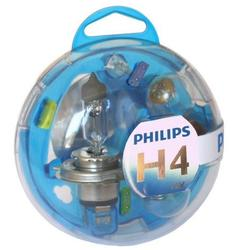 Kit rezerva bec auto cu halogen Philips H4, 12V