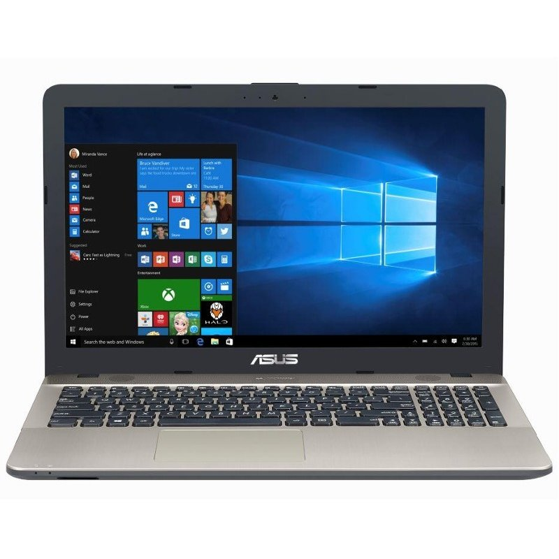 Laptop Asus 15.6'' Vivobook X541ua, Intel Core I3-7100u , 4gb Ddr4, 500gb, Gma Hd 620, Win 10 Home, Chocolate Black