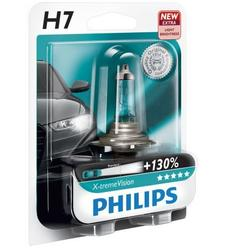 Bec auto cu halogen Philips H7 Xtreme Vision, +130%, 12V, 55W, 1 Buc