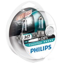 Set 2 Becuri auto far halogen Philips H7 Xtreme Vision, +130%, 12V, 55W