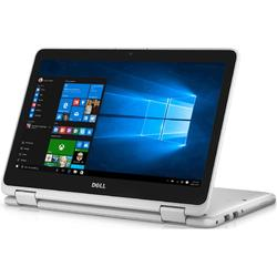 Laptop 2-in-1 DELL 11.6'' Inspiron 3168 (seria 3000), HD Touch,  Intel N3710 , 4GB, 128GB SSD, GMA HD 405, Win 10 Home, White