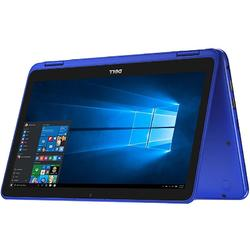 Laptop 2-in-1 DELL 11.6'' Inspiron 3168 (seria 3000), HD Touch, Intel N3710, 4GB, 128GB SSD, GMA HD 405, Win 10 Home, Blue