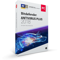 Bitdefender Antivirus Plus 2018, 10 PC, 1 an, New License, Retail DVD