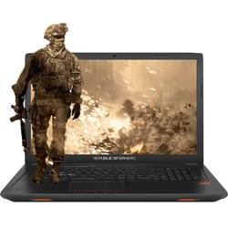 Laptop ASUS Gaming 17.3 ROG GL753VE, FHD, Intel Core i7-7700HQ,  8GB DDR4, 1TB 7200 RPM, GeForce GTX 1050 Ti 4GB, Endless OS