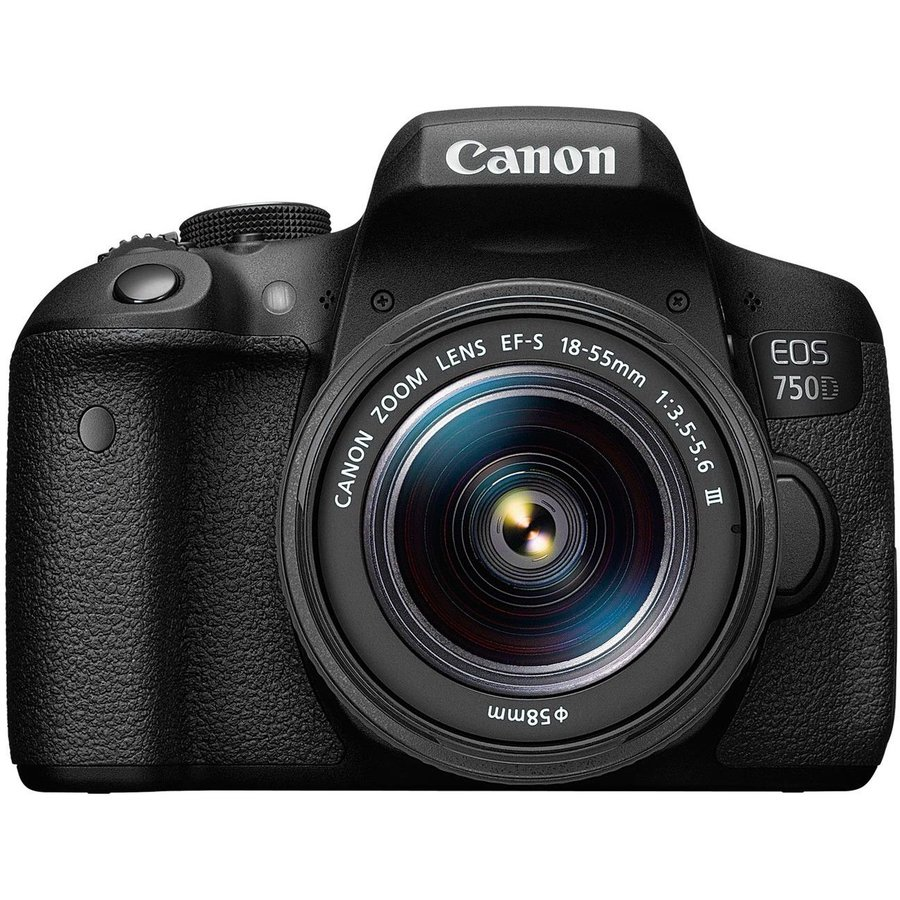 Camera Foto Eos750d 18-55s+50mm, 24.2 Mp,iso 100-12800 (maxim 25600), 19 Puncte Focus