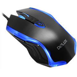 DELUX Mouse M556 Black/Blue, USB